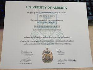 University of Alberta diploma, University of Alberta degree,