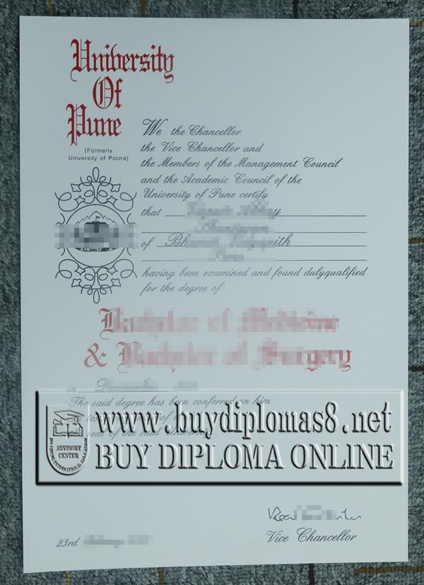 University of Pune degree, University of Pune diploma