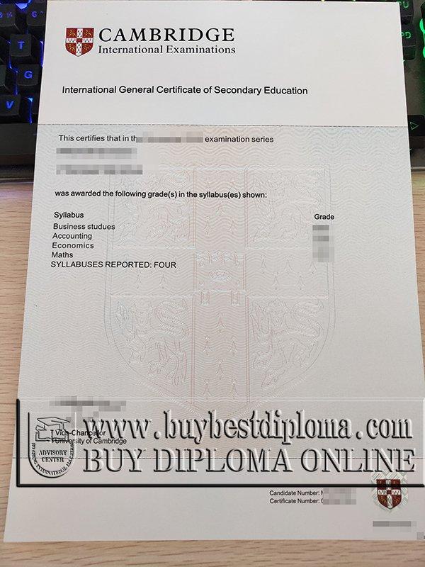 fake GCSE certificate, fake IGCSE certificate, buy GCE certificate