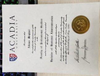 Acadia University diploma, Acadia University degree,