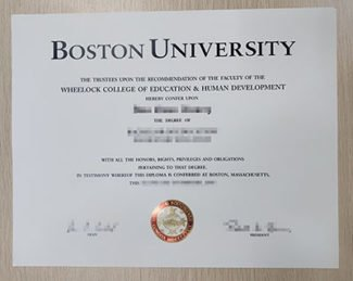 Boston University diploma, Boston University degree,