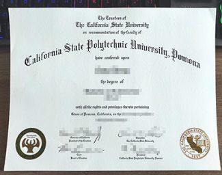 Cal Poly Pomona diploma, fake CSPU diploma, California State Polytechnic University diploma,