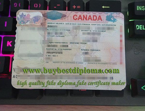 canada visa sticker, fake Canada visa,