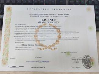 Paris III licence, Université De La Sorbonne Nouvelle diploma,