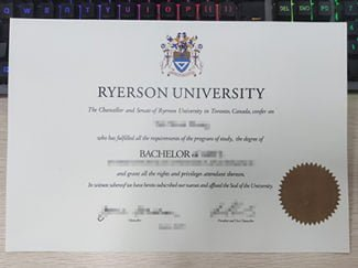 Ryerson University diploma, Ryerson University degree,