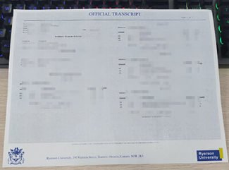 Ryerson University diploma, Ryerson University transcript, fake Canada transcript,