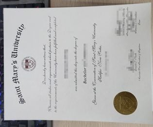 Saint Mary's University Diploma, Saint Mary's University degree,