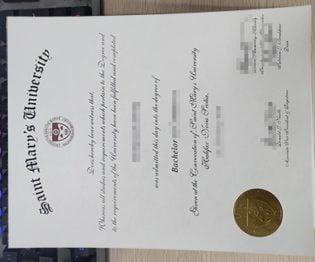 Saint Mary's University Diploma, Saint Mary's University degree,