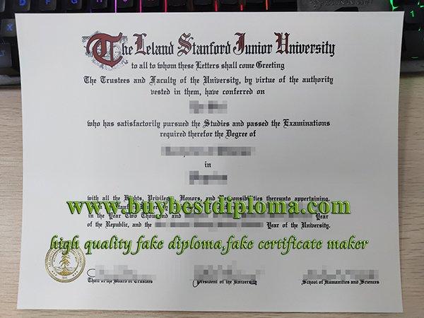 Stanford university diploma, fake stanford university degree,