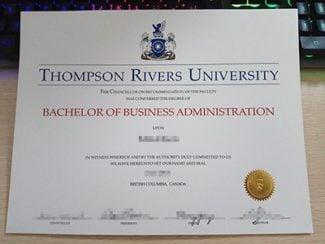 Thompson Rivers University Diploma, Thompson Rivers University Degree, fake TRU diploma,