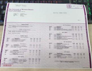 University Of Western Ontario transcript, UWO transcript, fake UWO diploma,