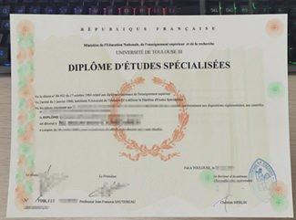 Universite De Toulouse III diploma, Universite De Toulouse III certificate, Université Paul Sabatier diploma