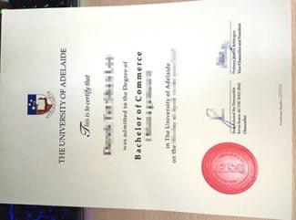 University of Adelaide diploma, University of Adelaide degree, fake commerce degree,