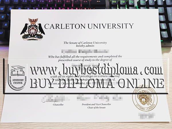 Carleton University diploma, Carleton University degree,