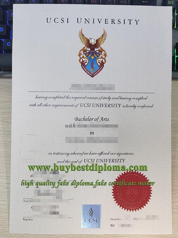 UCSI diploma, UCSI University degree, fake Malaysia degree,