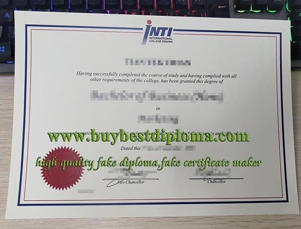 INTI International College Penang diploma, INTI University College diploma, INTI university diploma,