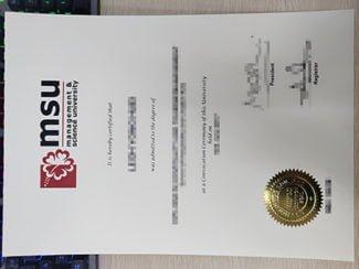 fake MSU diploma, Management & Science University degree,