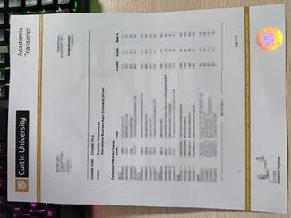 Curtin University transcript, Curtin University certificate,