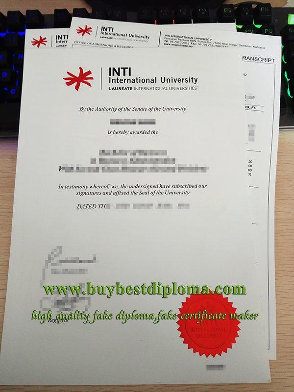 INTI international University diploma, INTI university transcript, INTI college diploma,