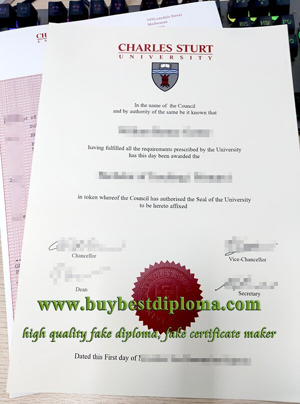 Charles Sturt University degree, Charles Sturt University transcript, fake CSU diploma,
