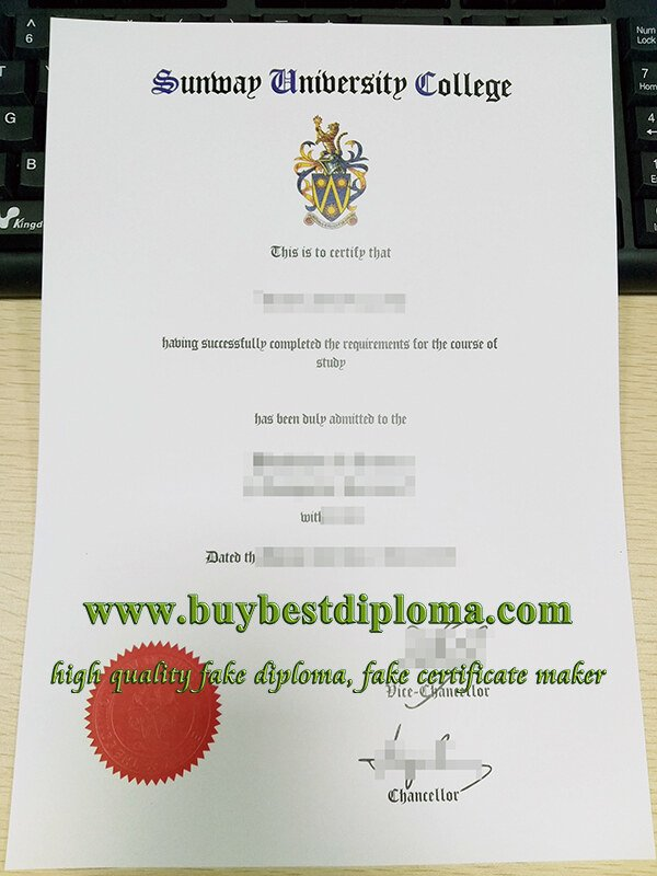 Sunway University College diploma, Sunway University College degree, fake Sunway University diploma,