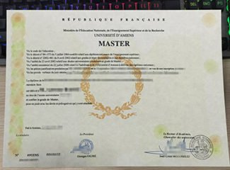 Universite D'Amiens diploma, Université de Picardie Jules Verne diploma, fake Master diploma,