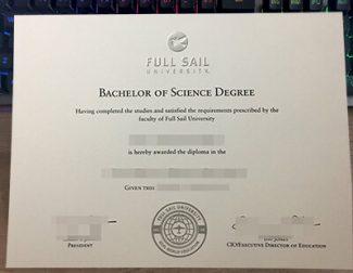 Full Sail University diploma, Full Sail University degree, fake FSU diploma,