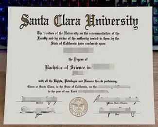 Santa Clara University diploma, Santa Clara University degree, fake SCU diploma,