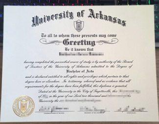 University of Arkansas diploma, University of Arkansas degree,