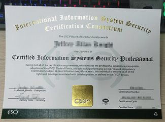 CISSP certificate, Certified Information Systems Security Professional certificate,