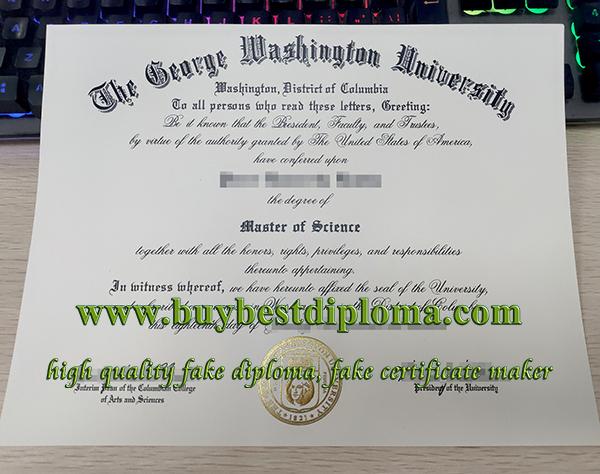 fake George Washington University diploma, phony GWU diploma, George Washington University degree,