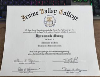 Irvine Valley College diploma, Irvine Valley College degree, false IVC diploma,