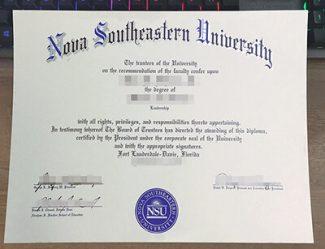 Nova Southeastern University diploma, Nova Southeastern University degree, fake NSU diploma,