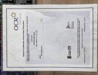 OCR GCSE Certificate, OCR certificate, GCSE certificate,