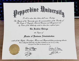 Pepperdine University diploma, Pepperdine University degree, fake MBA degree,