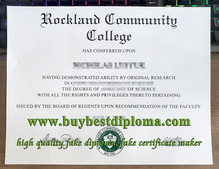 Rockland Community College diploma, Rockland Community College degree,