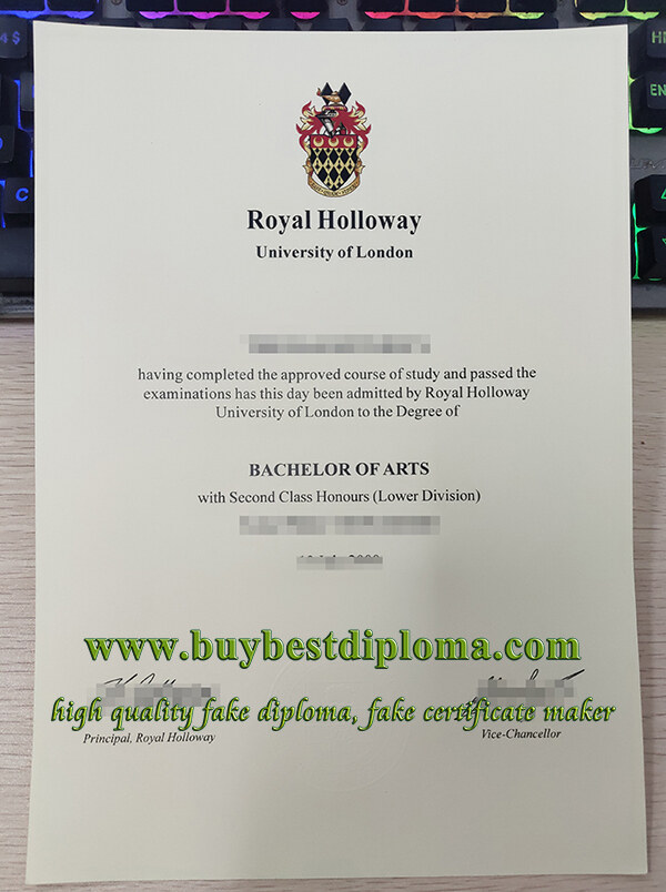 Royal Holloway University of London degree, RHUL degree, fake RHUL diploma,