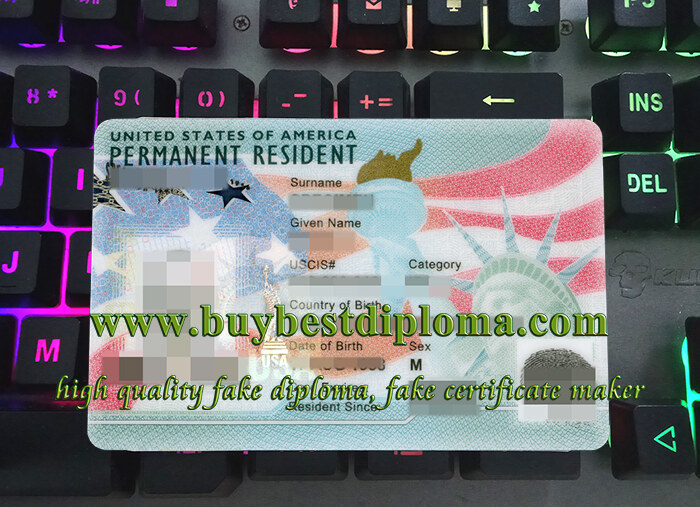 US PR card, USA Permanent Resident card, fake US green card card,