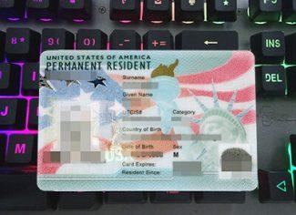 US PR card, USA Permanent Resident card, fake PR card,
