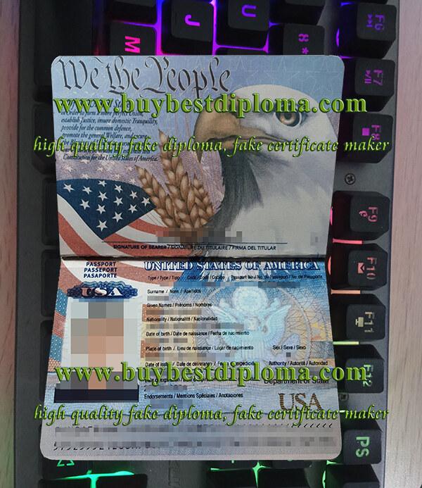 US passport, America passport, fake passport,