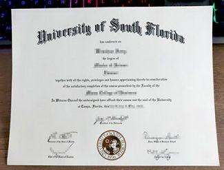 University of South Florida diploma, University of South Florida degree, fake USF diploma,