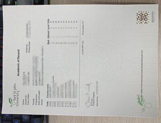 York St John University transcript, York St John University diploma,