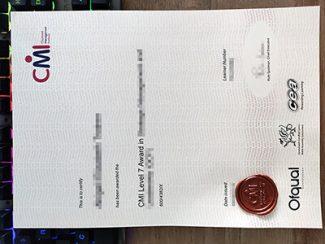 CMI diploma, CMI certificate, fake management diploma,