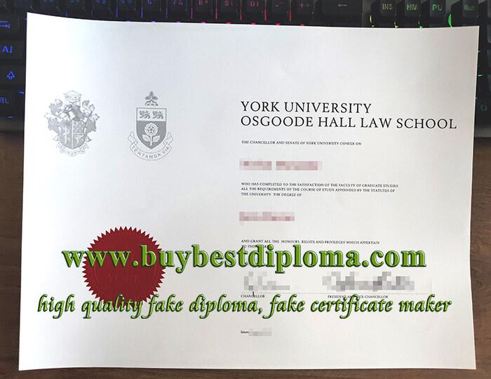 Osgoode Hall Law School diploma, fake Law diploma, fake York University diploma,