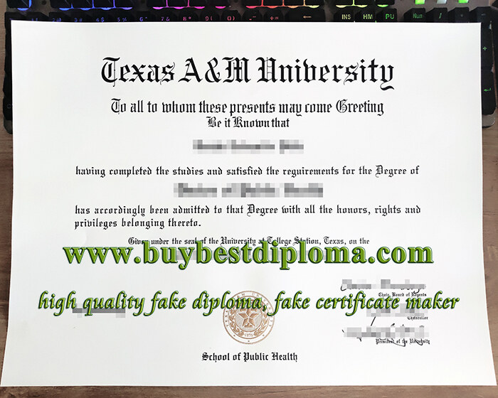 Texas A&M University diploma, Texas A&M University degree, Texas A&M University certificate,