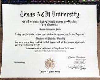 Texas A&M University diploma, Texas A&M University degree, Texas A&M University certificate,