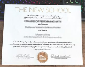The New School diploma, The New School degree, The New School certificate,