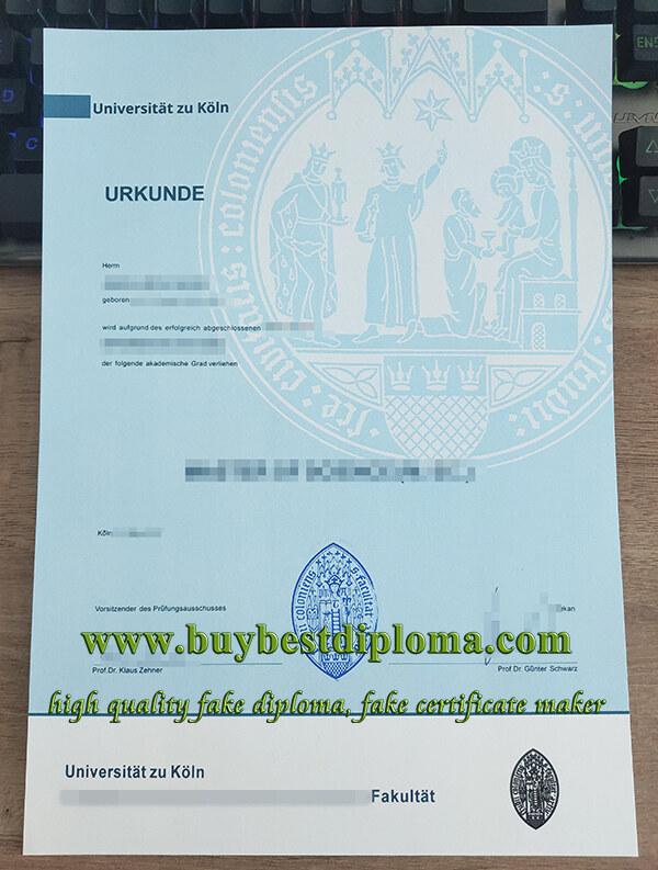 Universität zu Köln Diplom, University of Cologne diploma, University of Cologne degree,