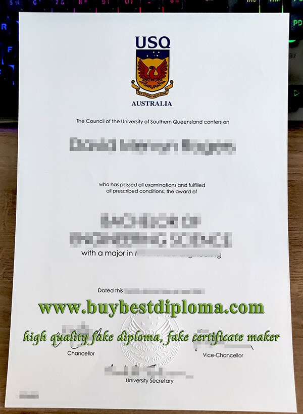 University of Southern Queensland degree, University of Southern Queensland diploma, fake USQ diploma,
