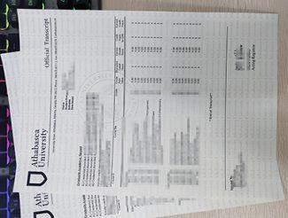 Athabasca University transcript, Athabasca University diploma, fake Canada university transcript,